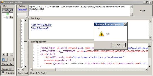 Checking if  NET's HtmlAnchor Href property is vulnerable to XSS