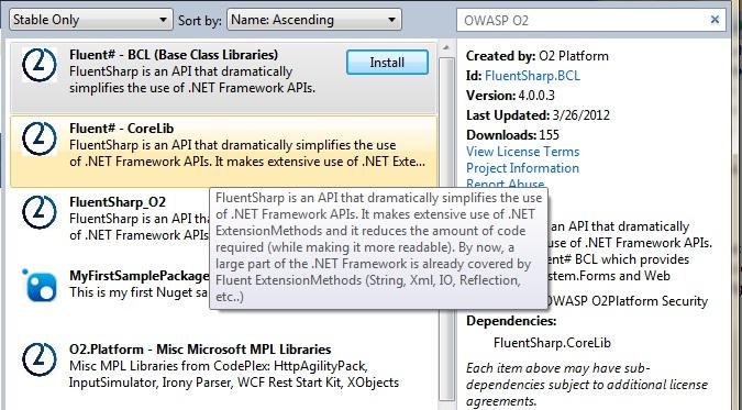 OWASP O2 at NuGet